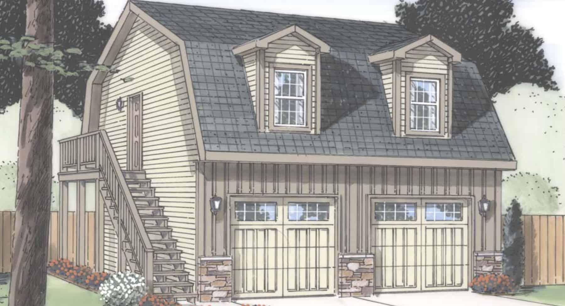 garage plan E
