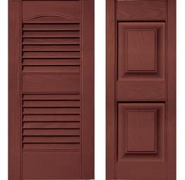Shutters - Burgundy Red