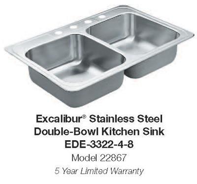 Kitchen Sink - Excalibur EDE-3322-4-8